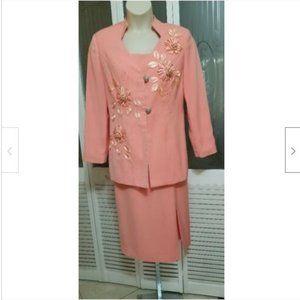 Grace Ephesians 2:5 Pink Skirt Suit
